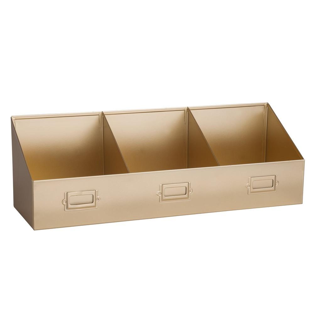 casier 3 compartiments en m tal cuivr maisons du monde. Black Bedroom Furniture Sets. Home Design Ideas