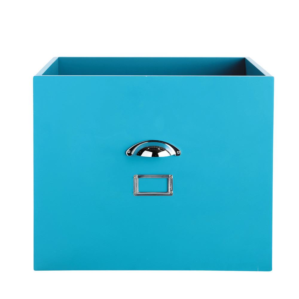 casier de rangement en m tal bleu l 45 cm tonic maisons du monde. Black Bedroom Furniture Sets. Home Design Ideas