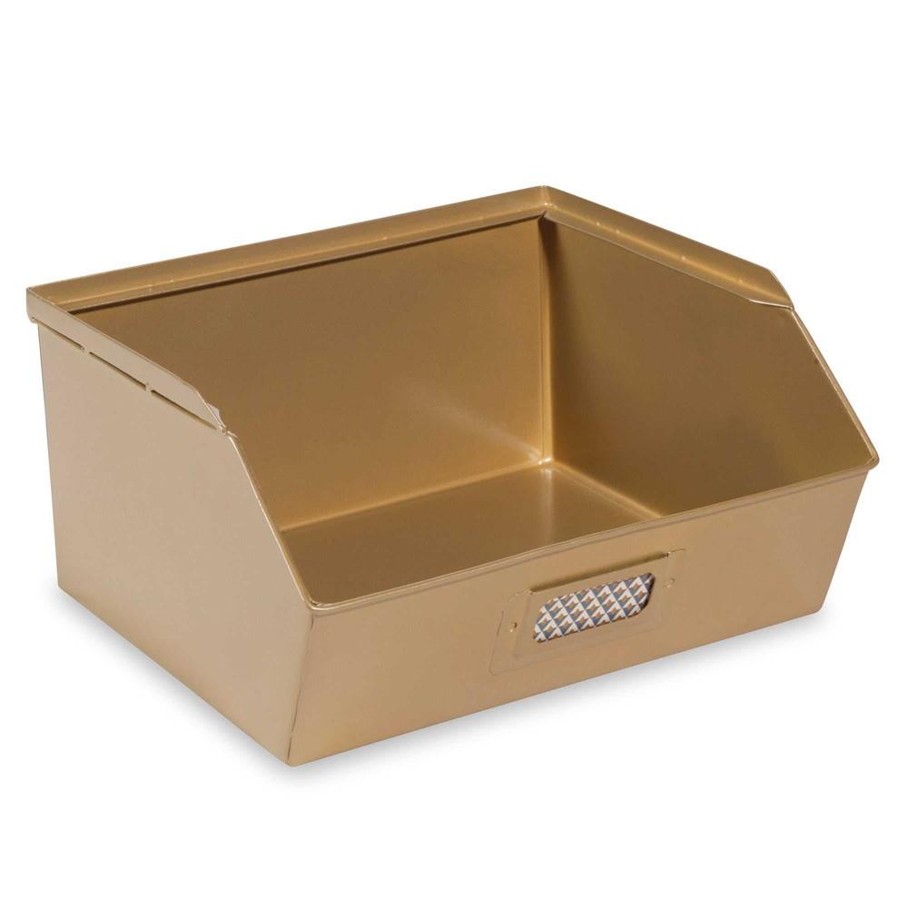 casier en m tal dor 19 x 21 cm portobello gold maisons. Black Bedroom Furniture Sets. Home Design Ideas