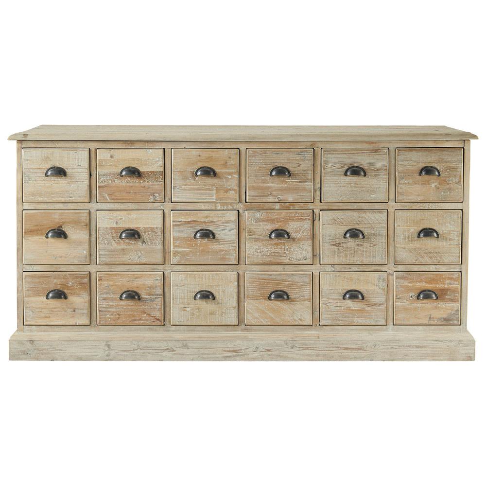 Cassettiera in legno riciclato l 170 cm lausanne maisons for Maison du monde credenze