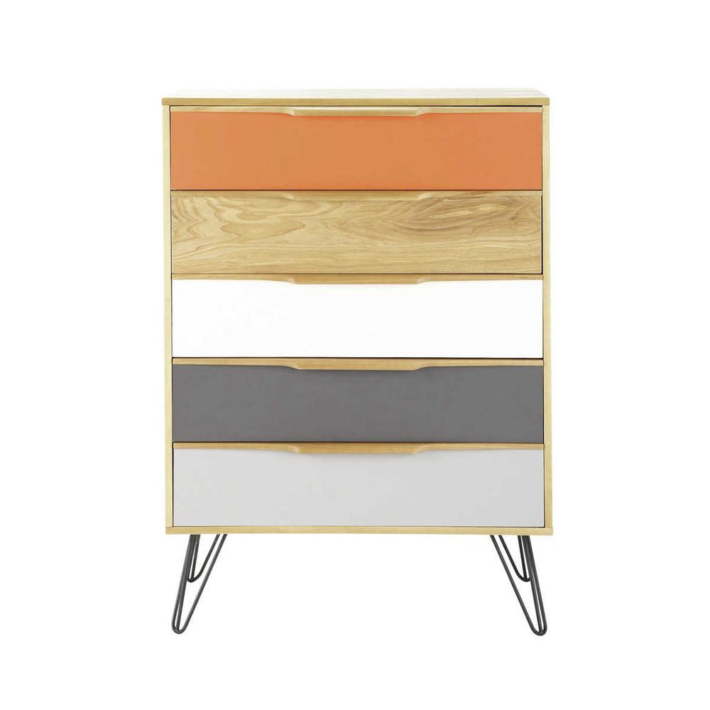 Cassettiera vintage in legno multicolor twist twist for Cassettiera maison du monde