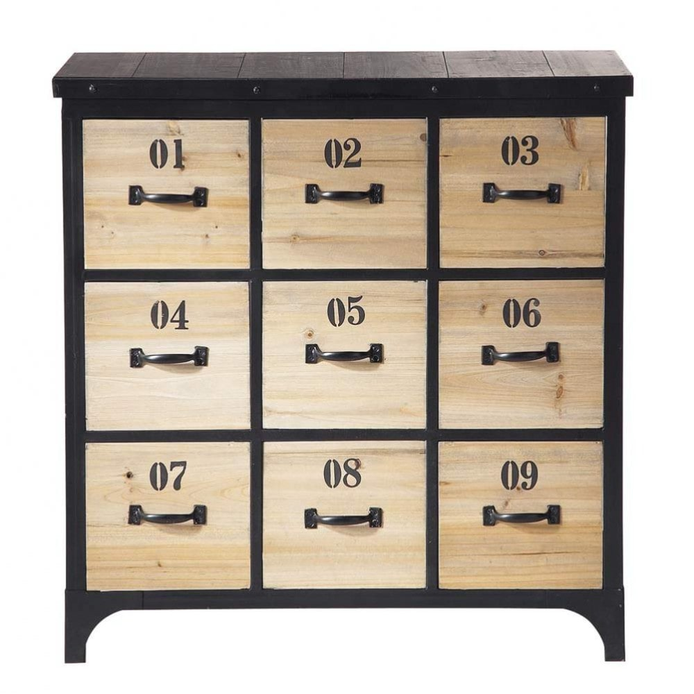 cd dvd m bel aus metall h 78 cm schwarz docks maisons du monde. Black Bedroom Furniture Sets. Home Design Ideas