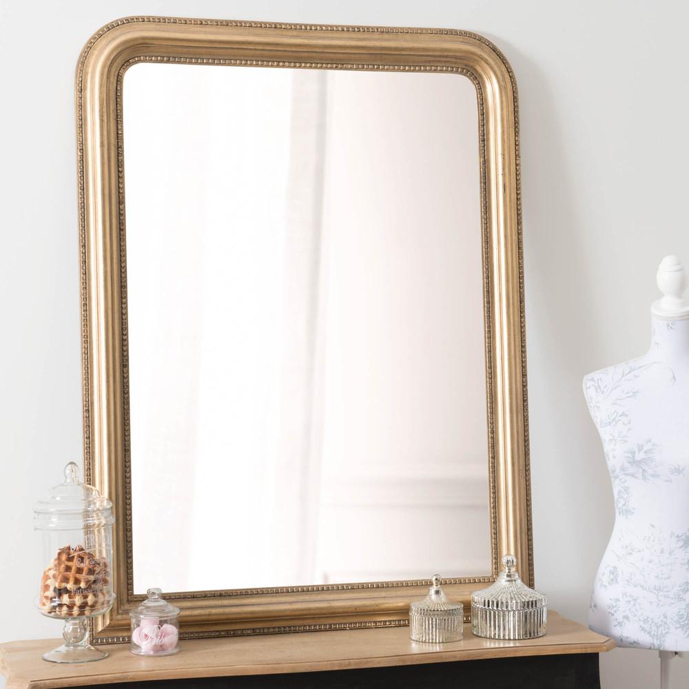 C leste mirror gold 120x90 maisons du monde for Miroir 90 x 170