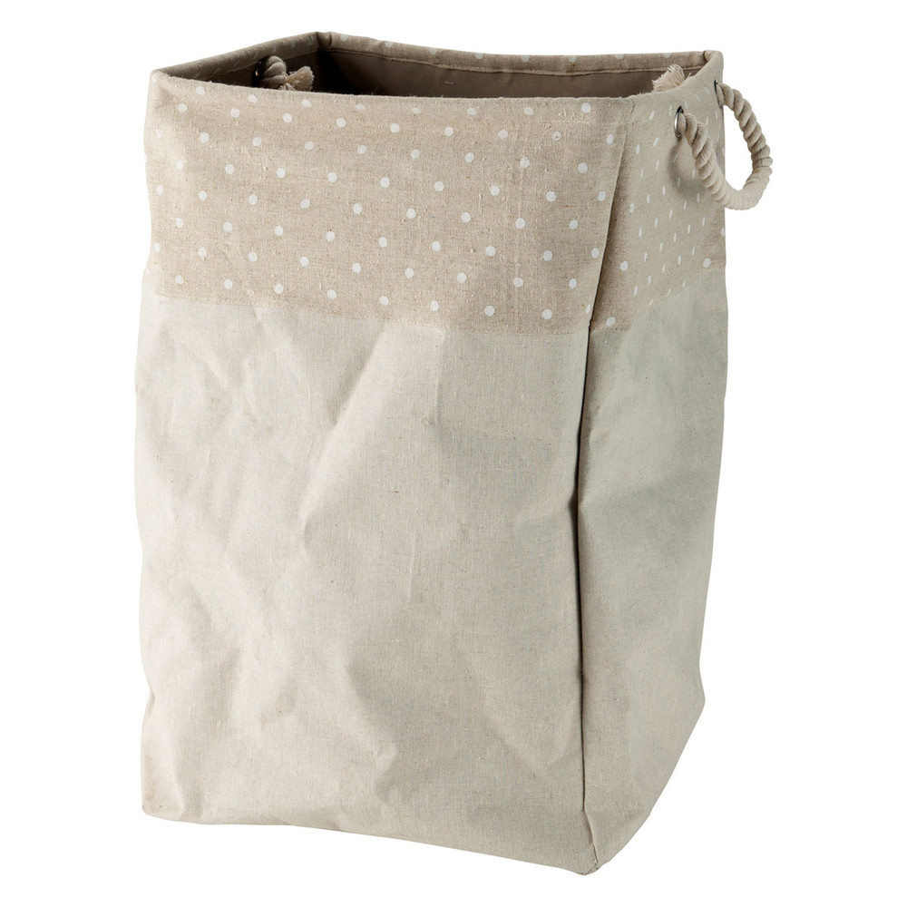 Cesto de almacenaje beis de tela al 53 cm pastel - Cestos de tela ...
