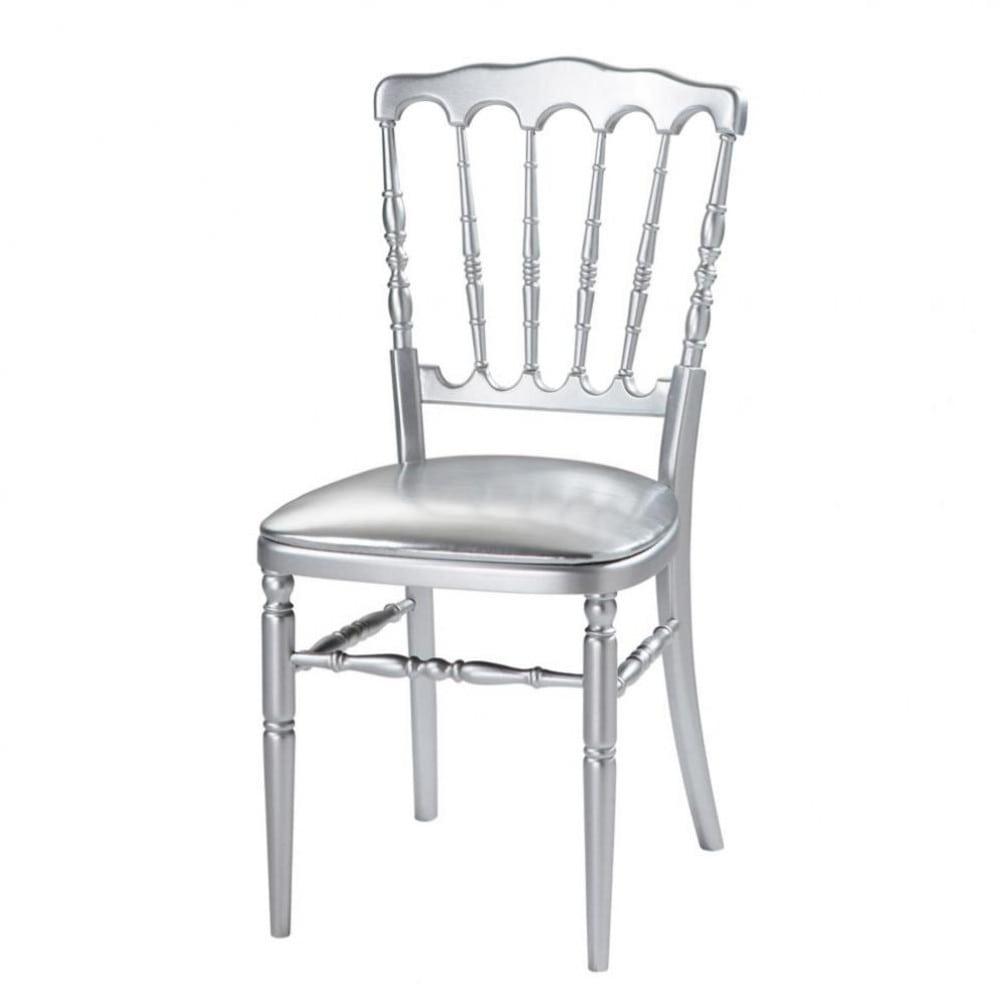 Chaise argent party maisons du monde - Maisons du monde chaises ...