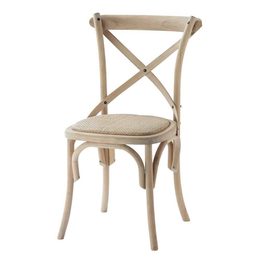 Chaise bistrot en bouleau Tradition  Maisons du Monde