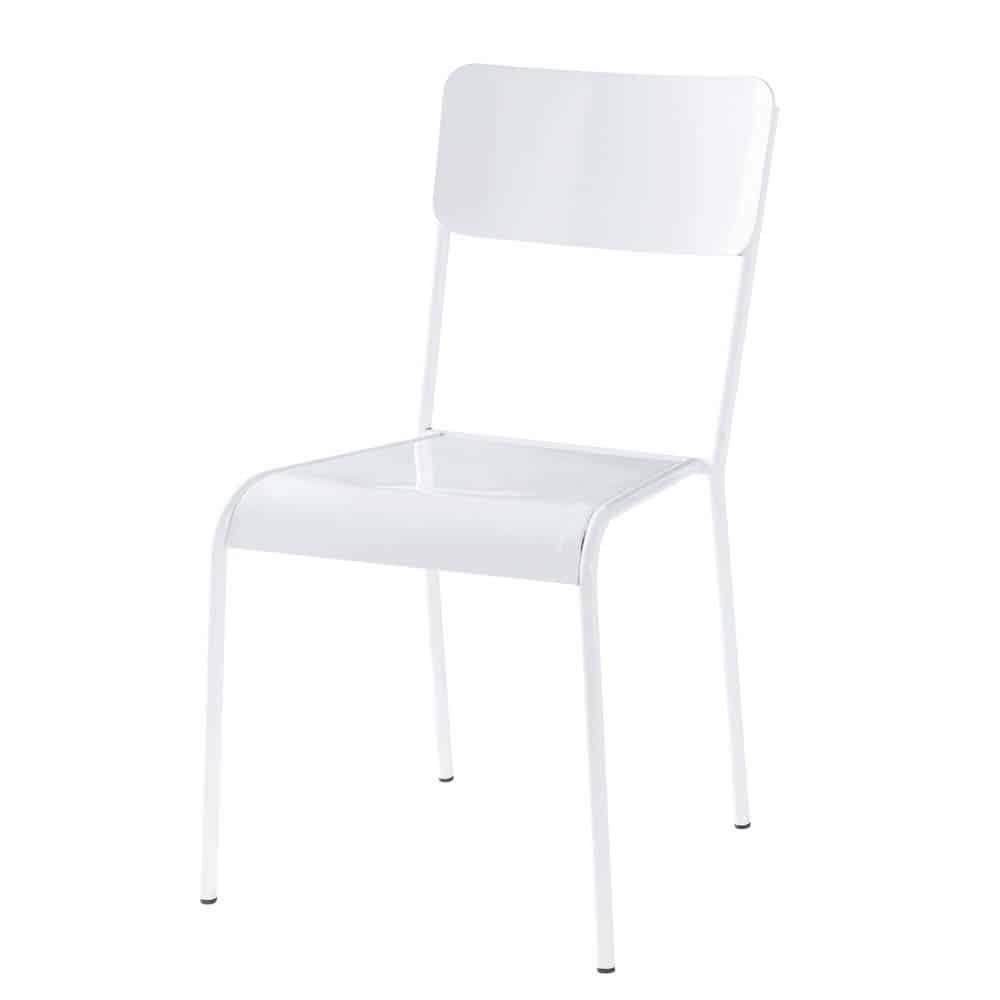 Chaise blanche edison maisons du monde - Chaise blanche maison du monde ...