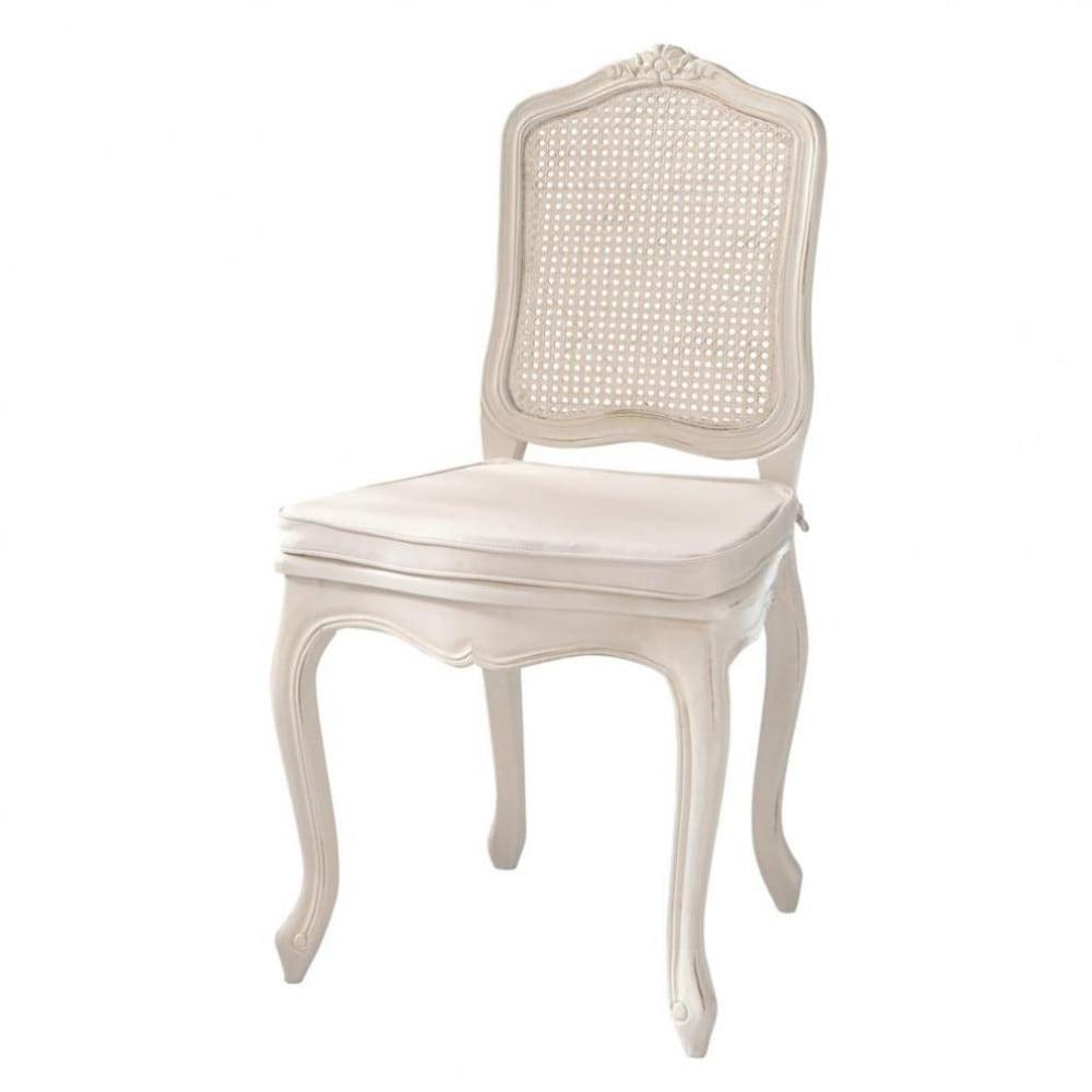 Chaise cann e en bois ivoire gustavia maisons du monde for Maison du monde coussin de chaise