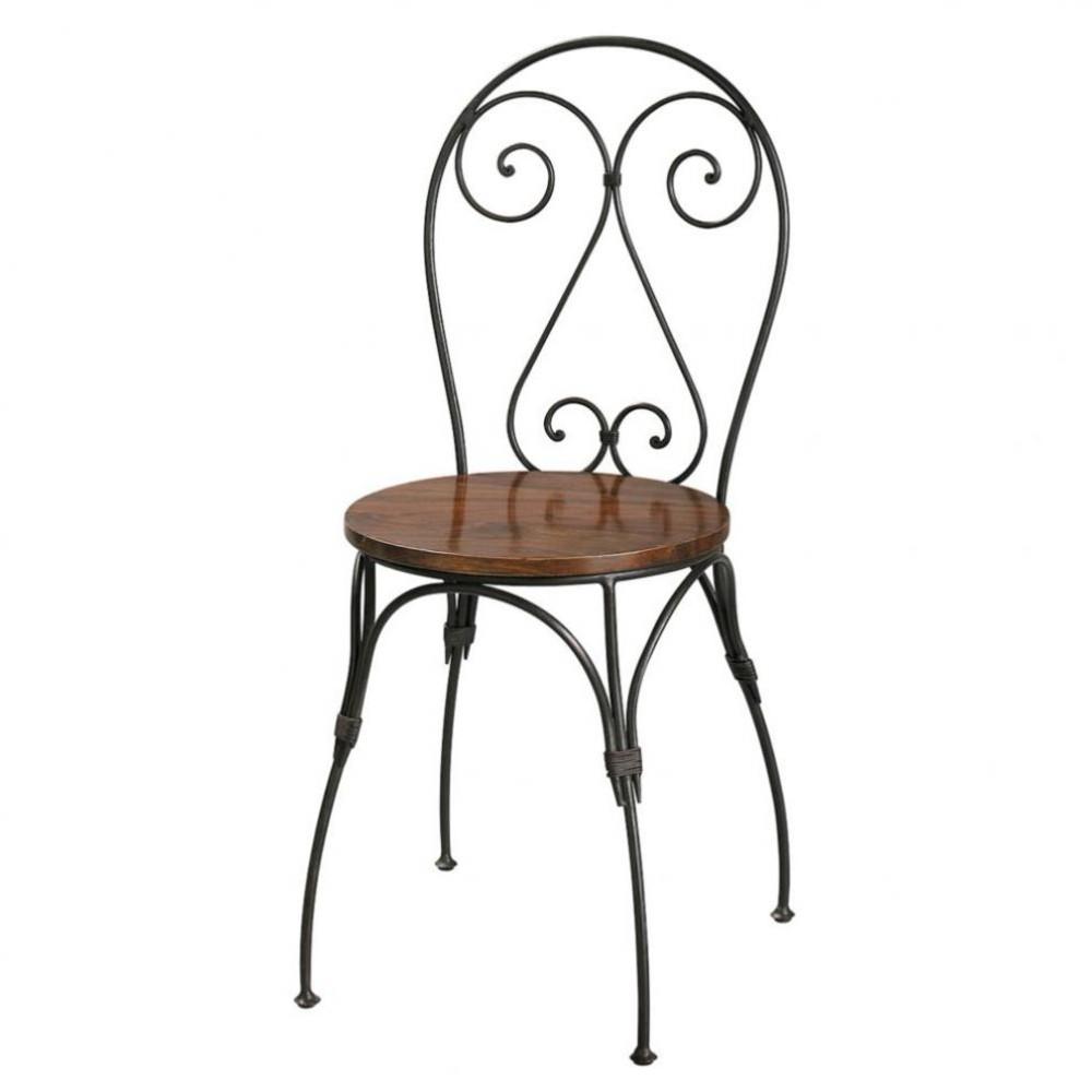 chaise cœur en bois de sheesham massif et fer forgé luberon ... - Chaise Fer Et Bois