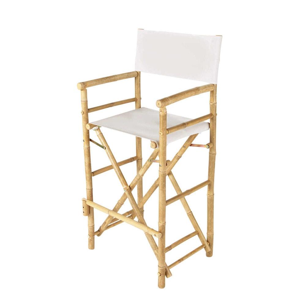chaise de bar de jardin en tissu et bambou crue robinson maisons du monde. Black Bedroom Furniture Sets. Home Design Ideas