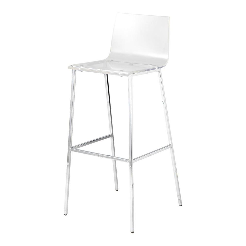 Chaise de bar en plastique acrylique et m tal transparente for Chaises maisons du monde