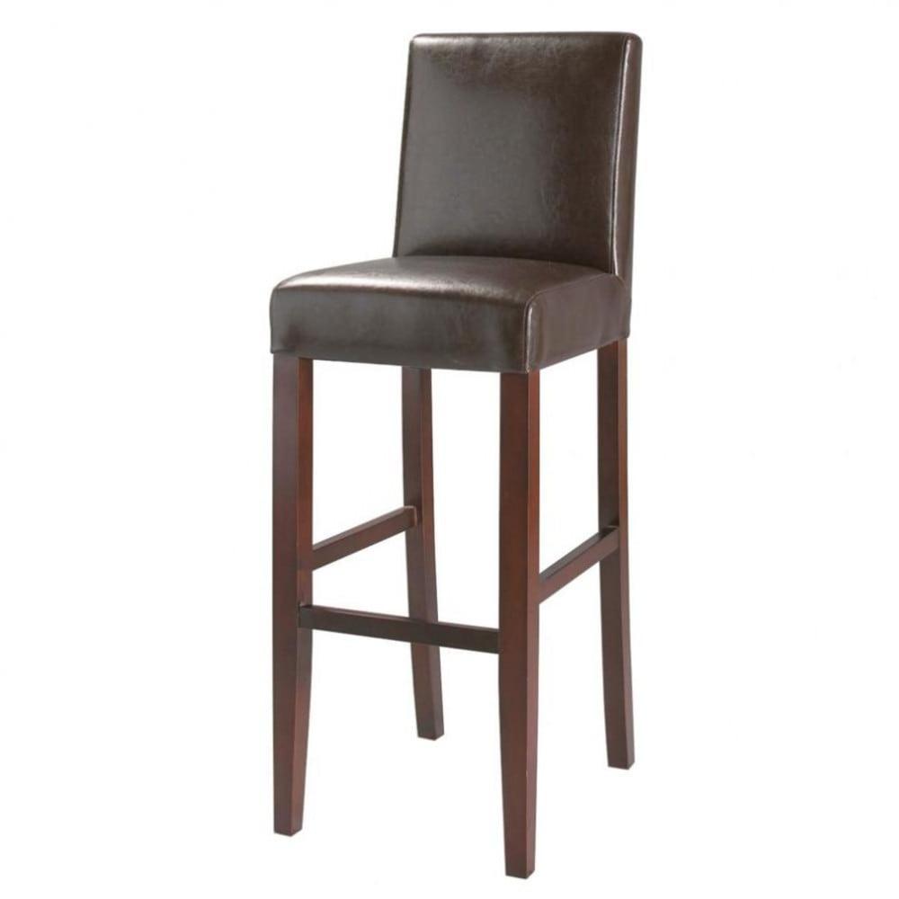 Chaise de bar marron boston maisons du monde - Chaise de bar confortable ...