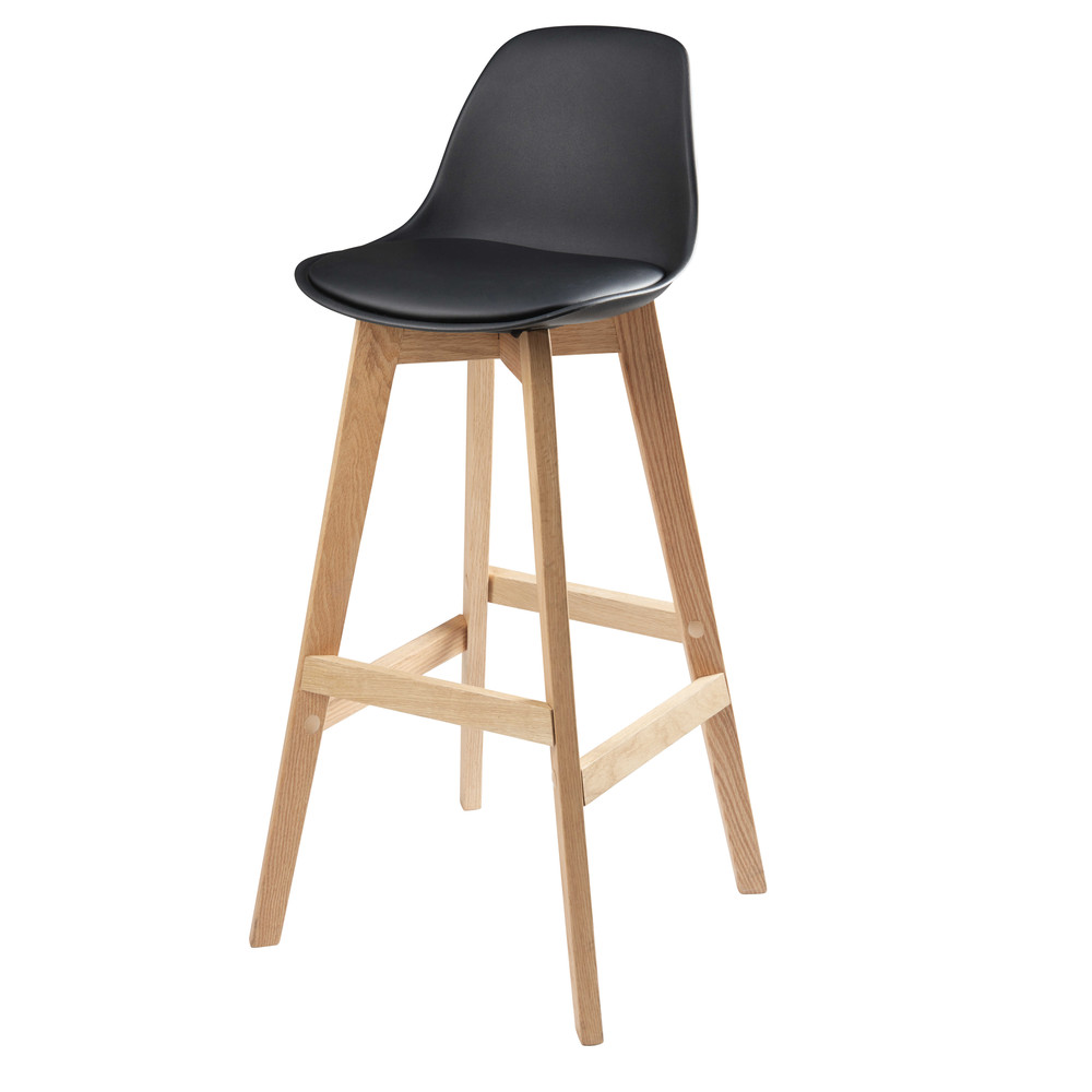 Chaise de bar scandinave noire ice maisons du monde - Chaise de bar maison du monde ...
