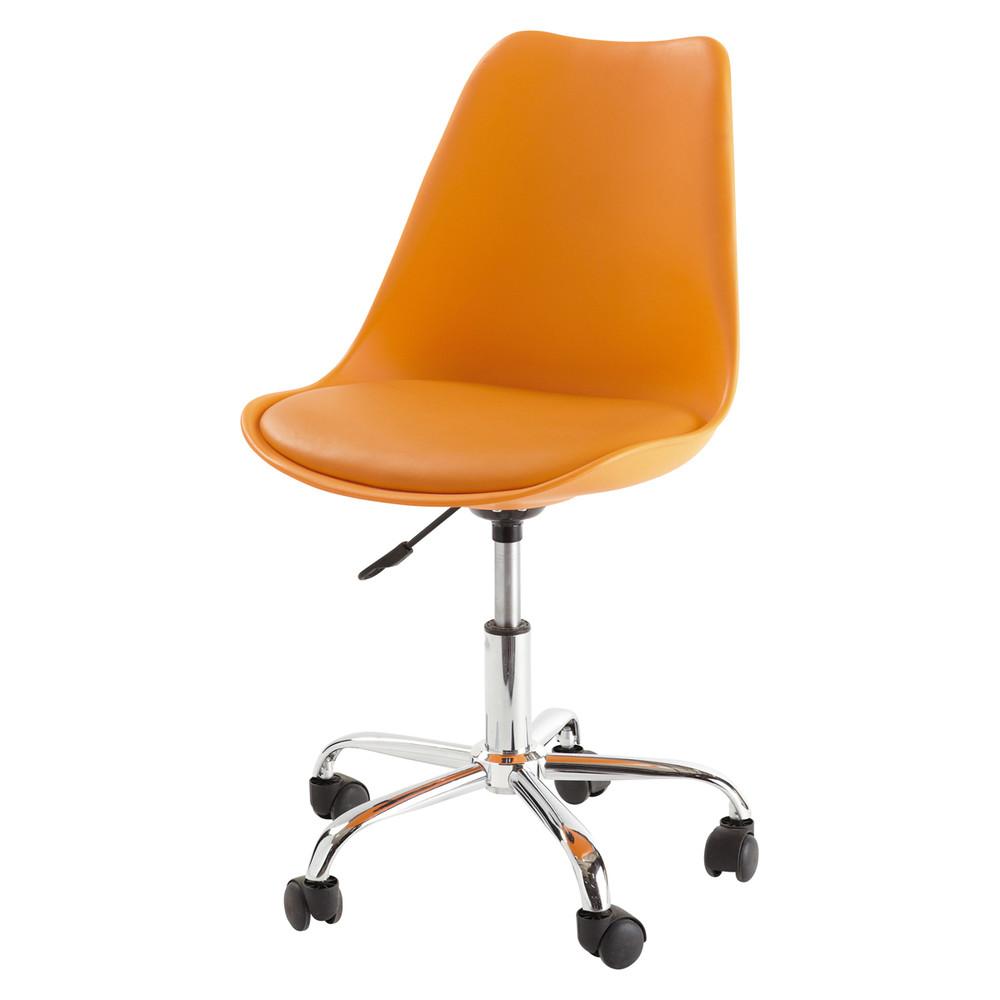 Chaise de bureau orange bristol maisons du monde - Chaise de bureau maison du monde ...
