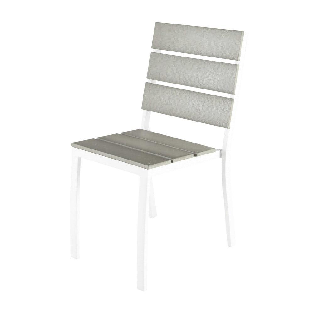 Chaise de jardin en aluminium et composite imitation bois  ~ Composite Imitation Bois