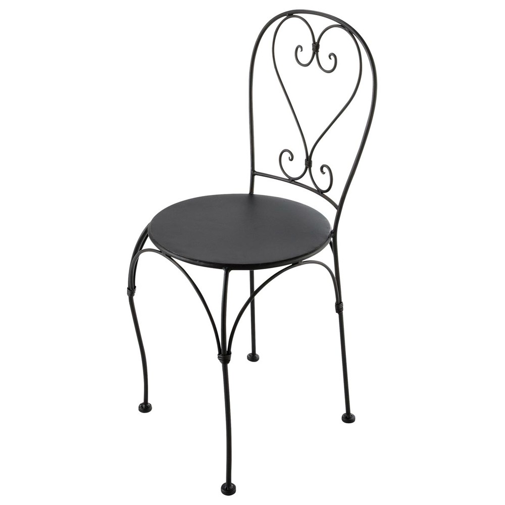 chaise de jardin en fer forg brun fonc st germain maisons du monde. Black Bedroom Furniture Sets. Home Design Ideas