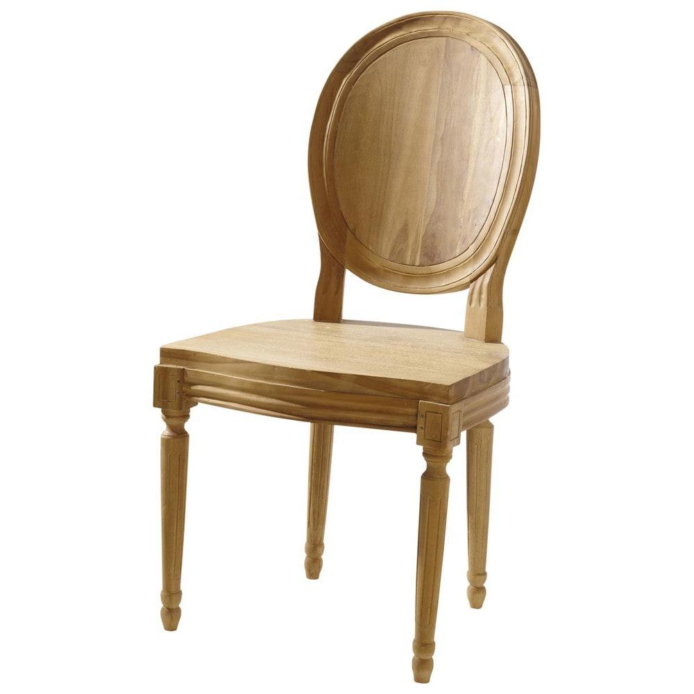 Chaise de jardin teck louis maisons du monde - Chaise louis maison du monde ...
