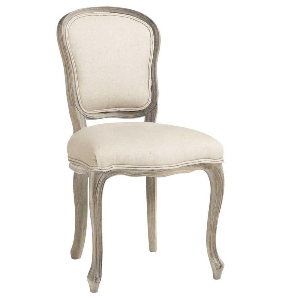 Chaise en lin beige Versailles | Maisons du Monde