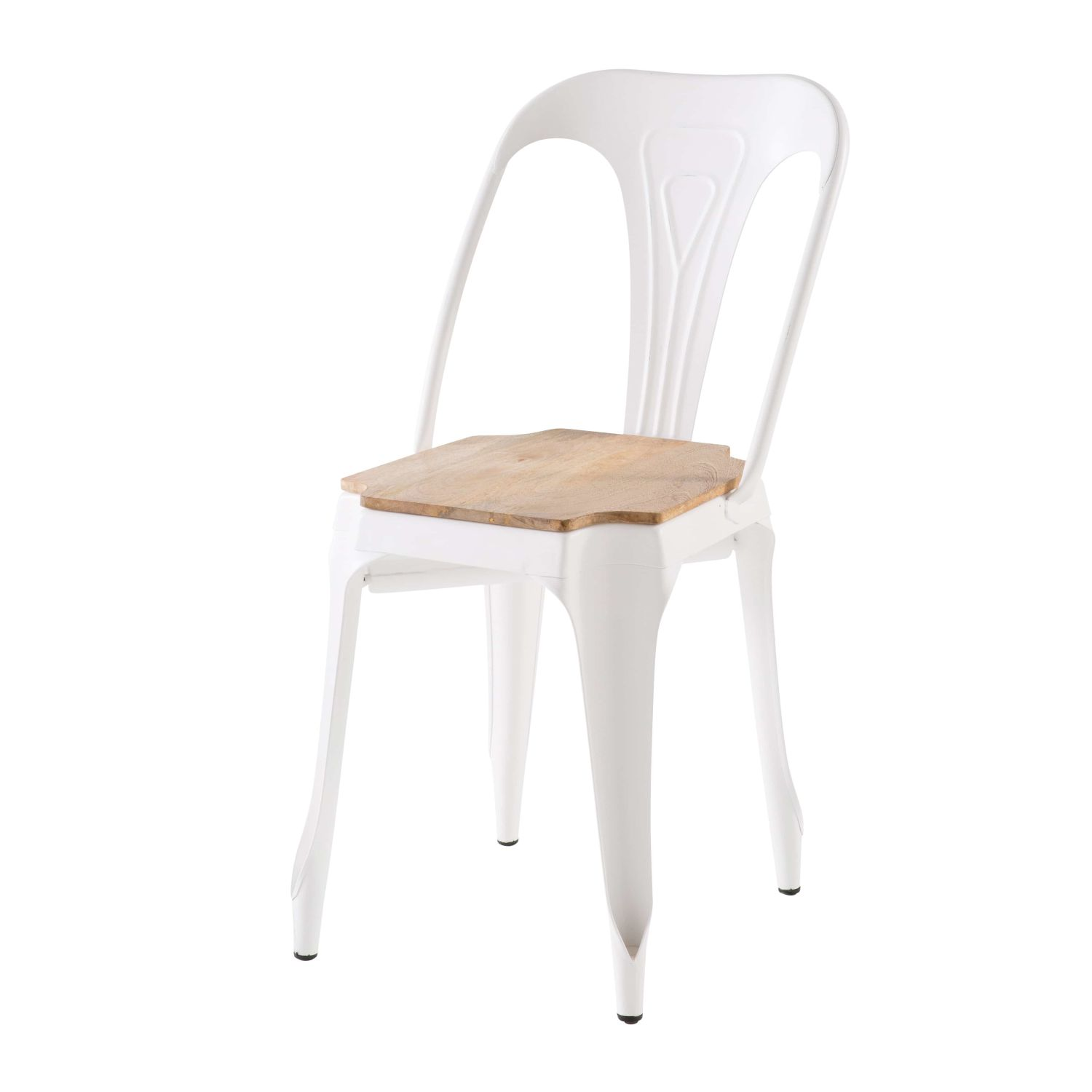 Chaise En Metal Blanc Et Manguier Multipls