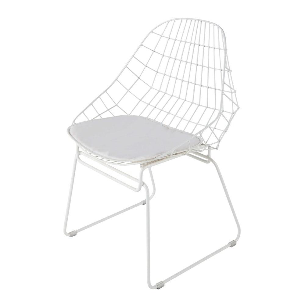 Chaise en m tal blanche orsay maisons du monde - Chaise blanche maison du monde ...