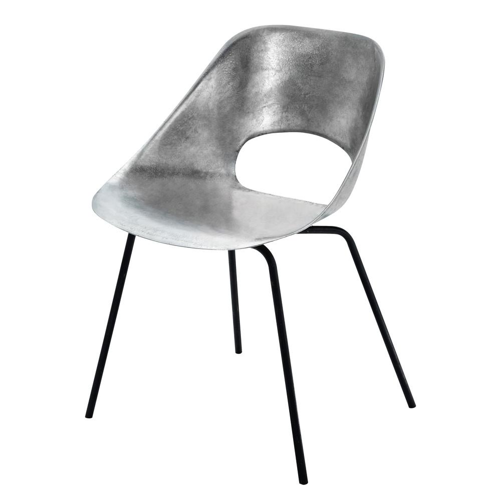 chaise guariche en aluminium et m tal tulipe maisons du monde. Black Bedroom Furniture Sets. Home Design Ideas