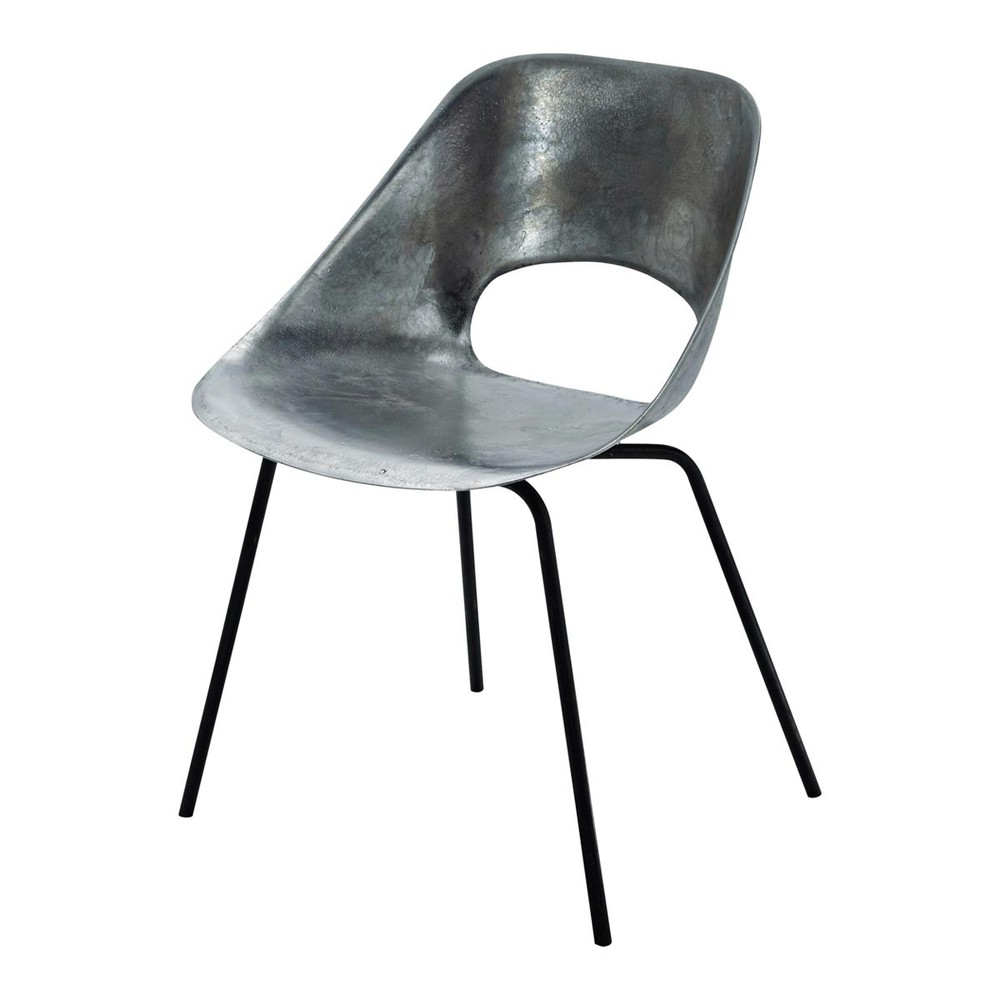 Chaise guariche en aluminum et m tal tulipe maisons du monde - Chaise industrielle maison du monde ...