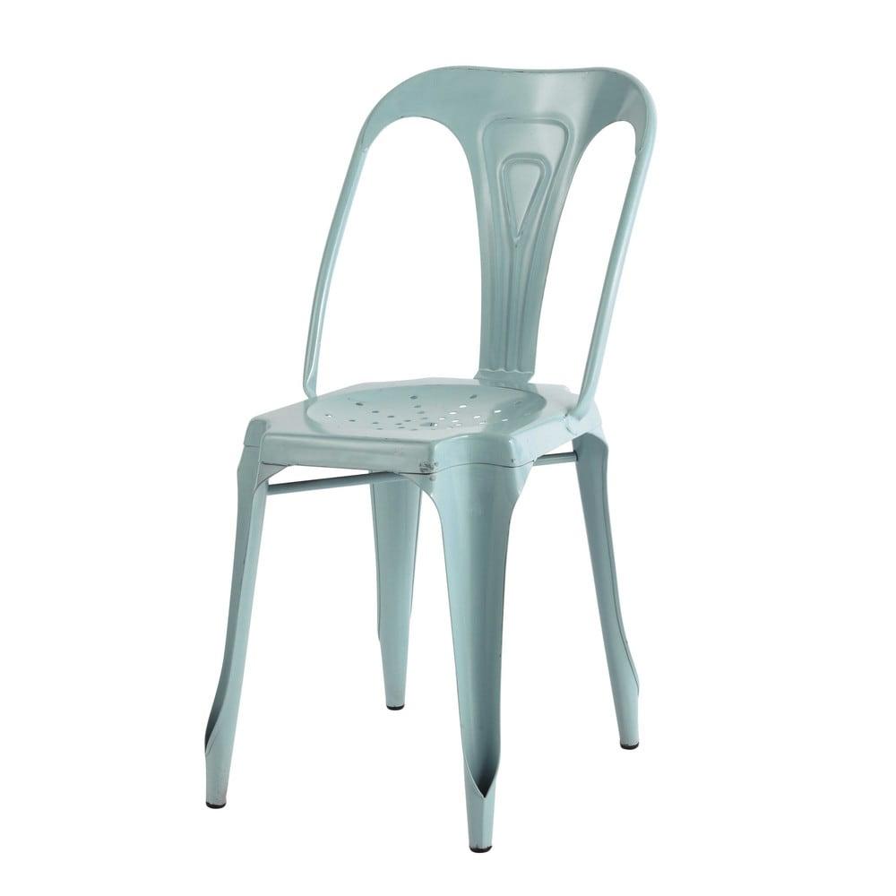 chaise indus en m tal bleu clair multipl 39 s maisons du monde. Black Bedroom Furniture Sets. Home Design Ideas