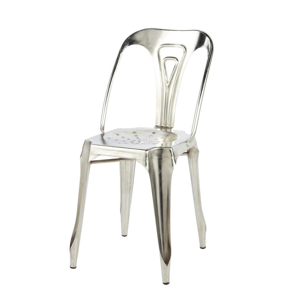 Chaise indus en m tal chrome multipl 39 s maisons du monde - Chaise metal maison du monde ...