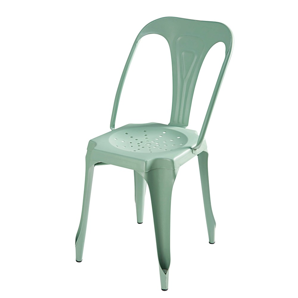 chaise indus en m tal vert pastel multipl 39 s maisons du monde. Black Bedroom Furniture Sets. Home Design Ideas