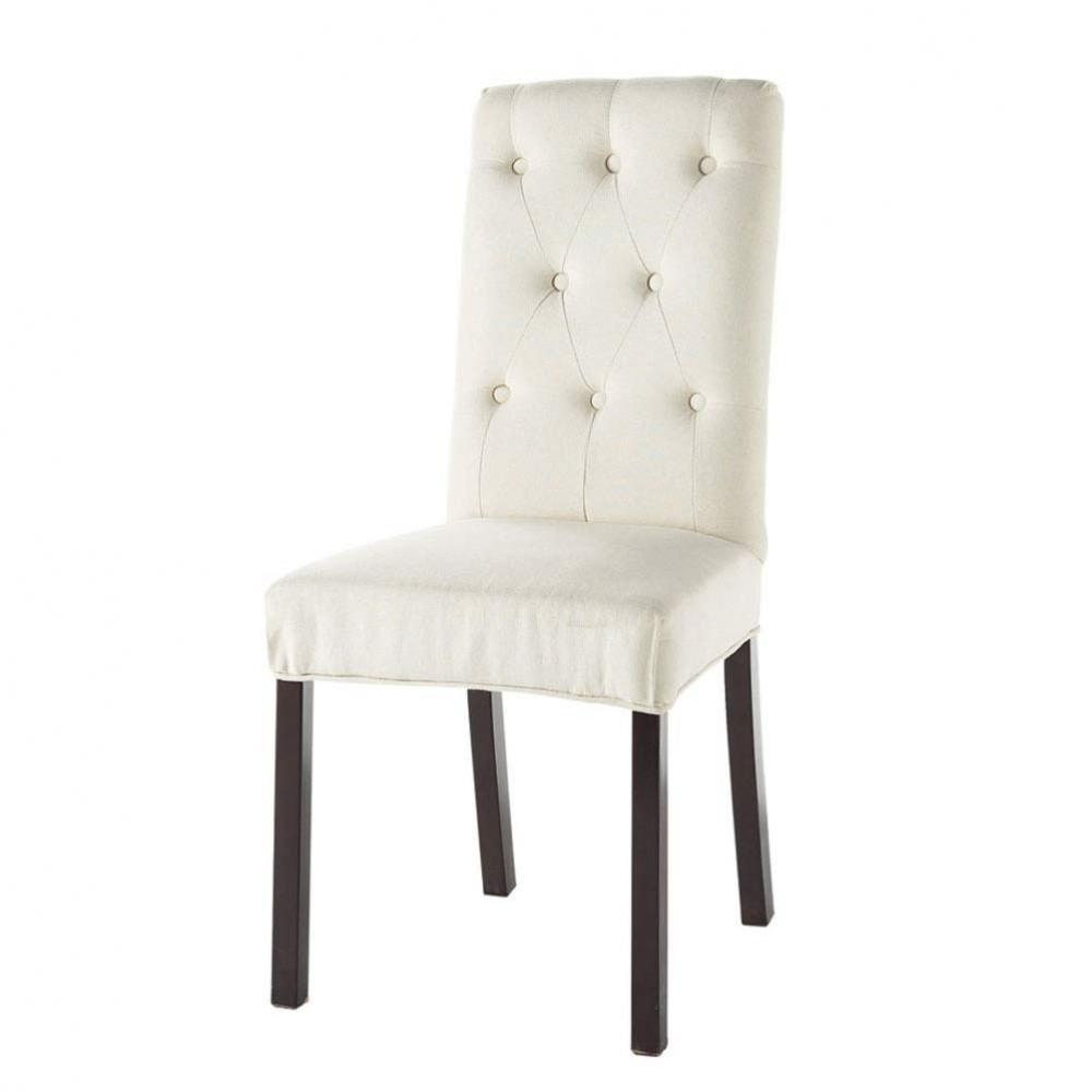 Chaise ivoire elizabeth maisons du monde - Chaise blanc d ivoire ...