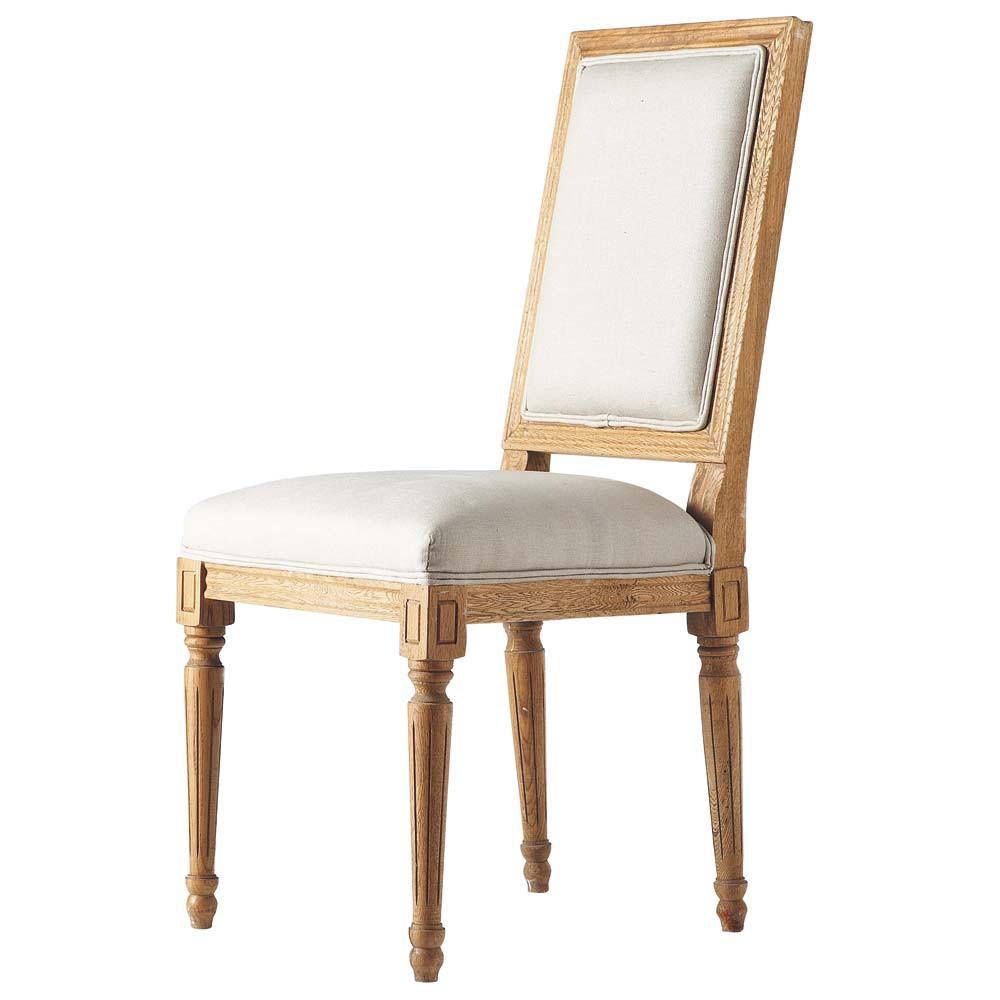 Chaise lin r gence maisons du monde for Maison du monde chaise louis