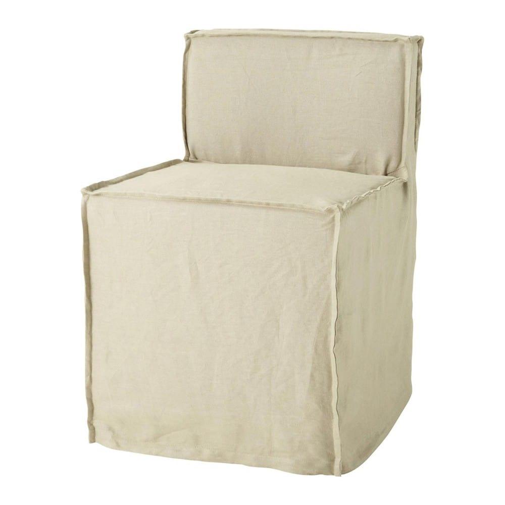 chaise lin romane maisons du monde. Black Bedroom Furniture Sets. Home Design Ideas