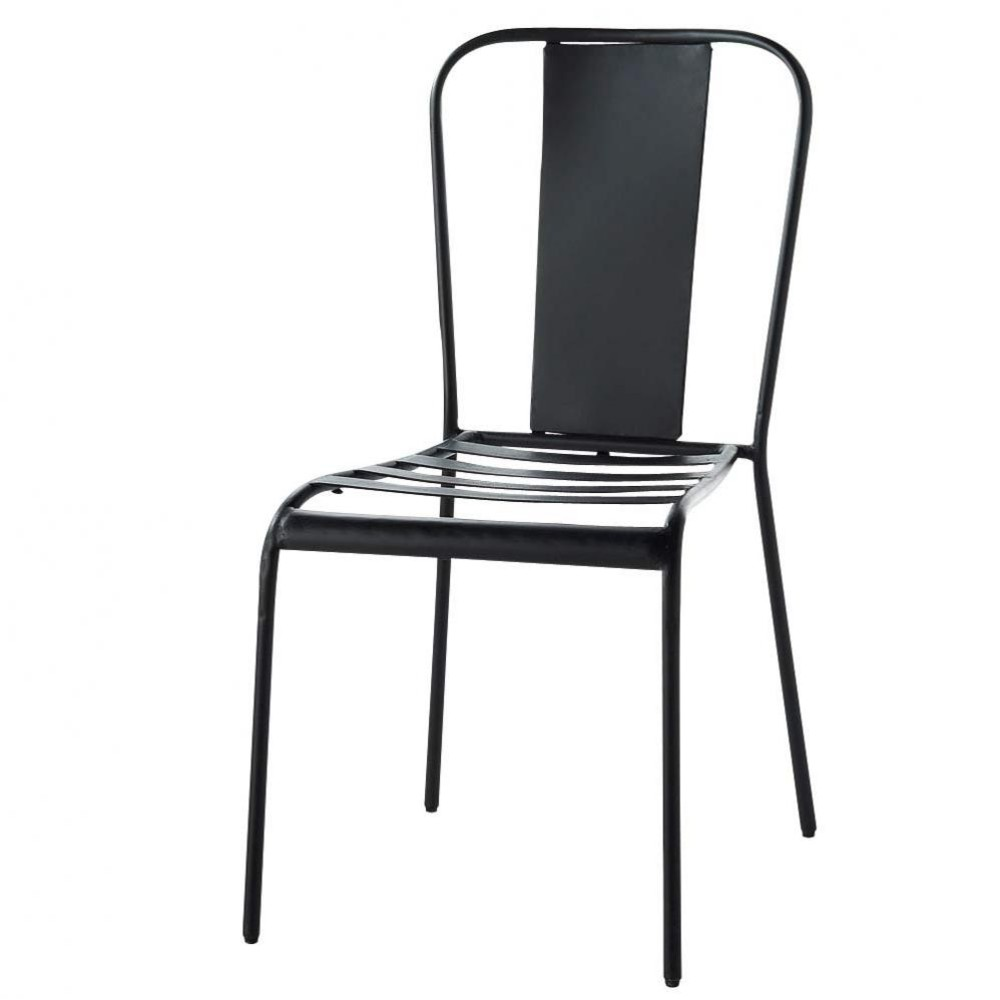 Chaise noire factory maisons du monde for Maisons du monde chaises