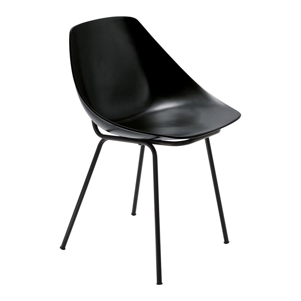 chaise noire guariche coquillage maisons du monde. Black Bedroom Furniture Sets. Home Design Ideas