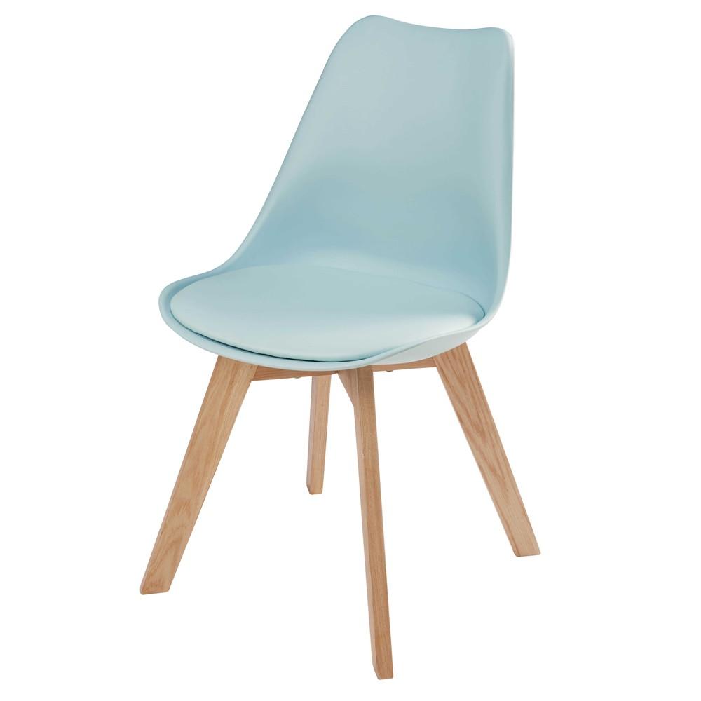 chaise scandinave bleu clair ice maisons du monde. Black Bedroom Furniture Sets. Home Design Ideas