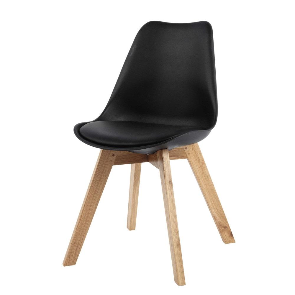 chaise scandinave noire ice maisons du monde. Black Bedroom Furniture Sets. Home Design Ideas