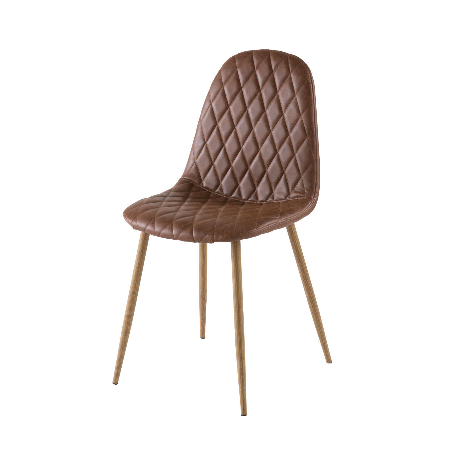 Chaise Style Scandinave Matelasse Camel Clyde