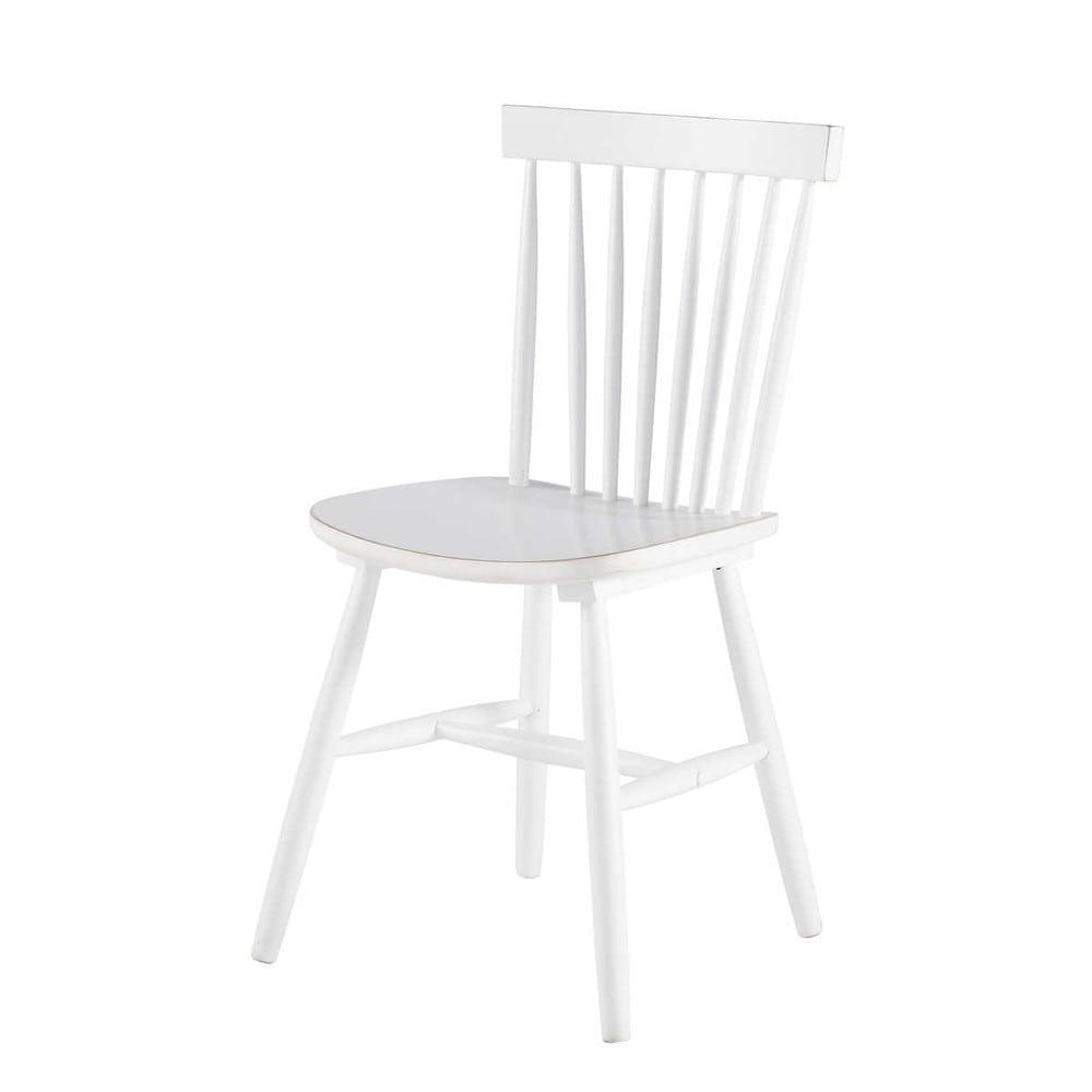 Chaise vintage en h v a blanche fjord maisons du monde - Chaise blanche maison du monde ...