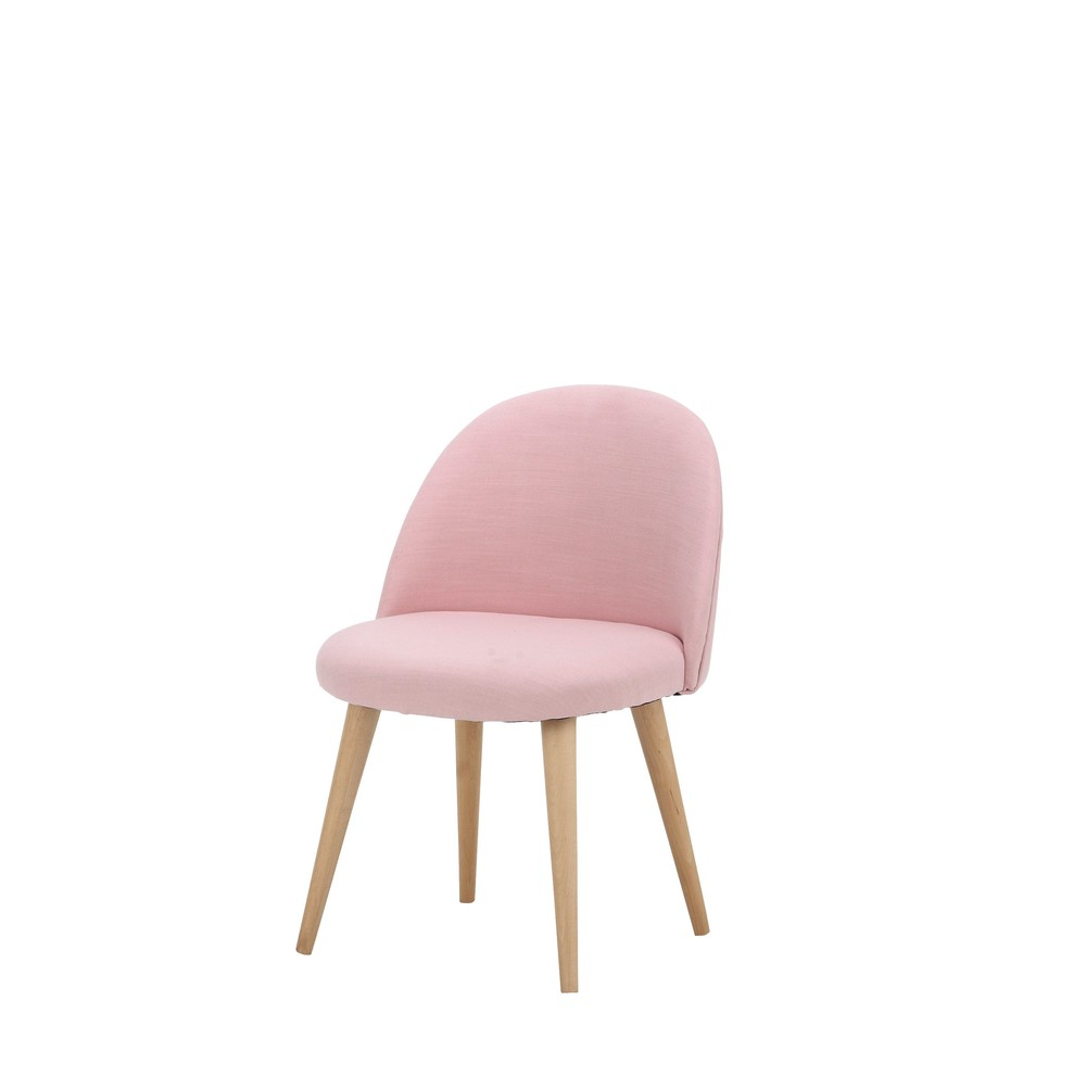 chaise vintage enfant en tissu et bouleau massif rose mauricette maisons du monde. Black Bedroom Furniture Sets. Home Design Ideas