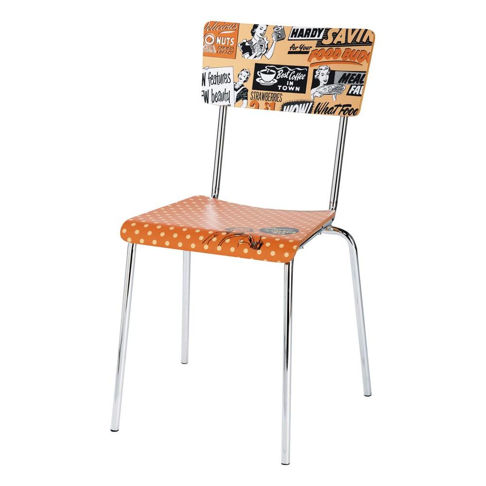 Chaise vintage orange r clam 39 maisons du monde for Maison du monde chaise