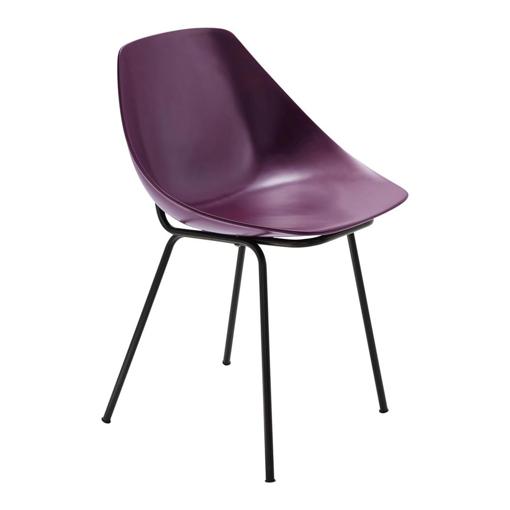 Chaise violette guariche coquillage maisons du monde - Chaise design violette ...