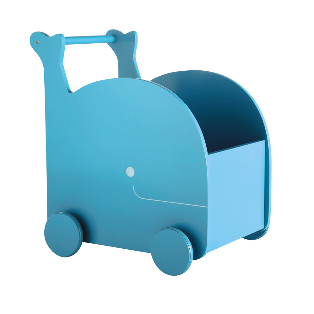 Chariot jouets baleine bleu h 50 cm willy maisons du monde for Maison du monde willy