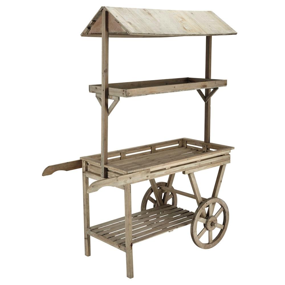 chariot en sapin h 174 cm primeurs maisons du monde. Black Bedroom Furniture Sets. Home Design Ideas
