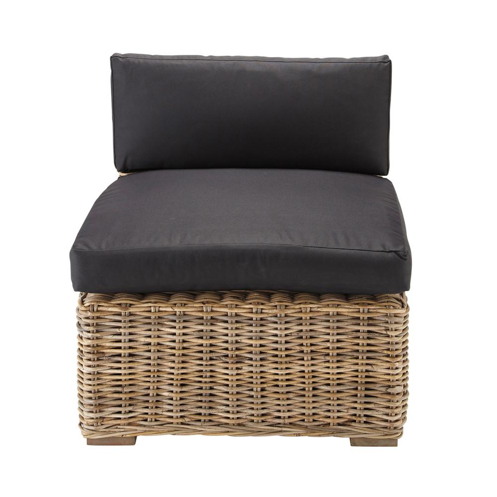 chauffeuse de canap noire born o maisons du monde. Black Bedroom Furniture Sets. Home Design Ideas