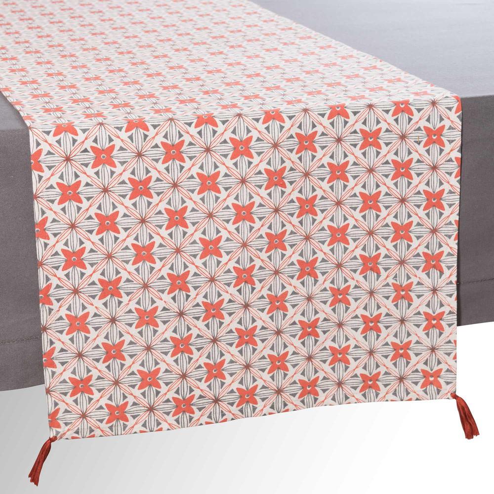 chemin de table pompons en coton l 150 cm obabika maisons du monde. Black Bedroom Furniture Sets. Home Design Ideas