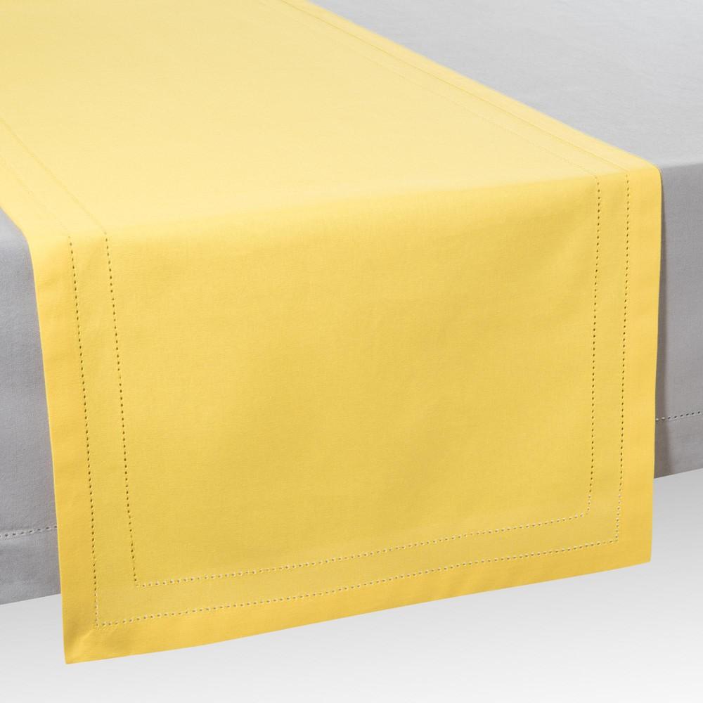 Chemin de table en coton jaune l 150 cm maisons du monde for Chemin de table jaune