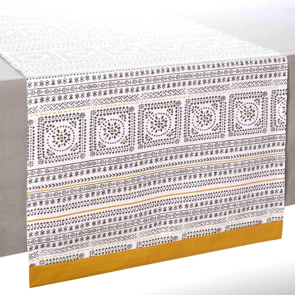 chemin de table en coton l 150 cm hanoi maisons du monde. Black Bedroom Furniture Sets. Home Design Ideas
