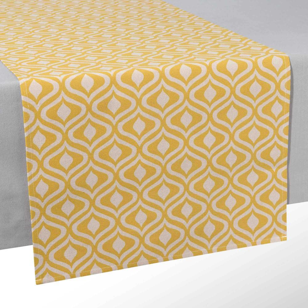 chemin de table en coton l 150 cm manicata maisons du monde. Black Bedroom Furniture Sets. Home Design Ideas
