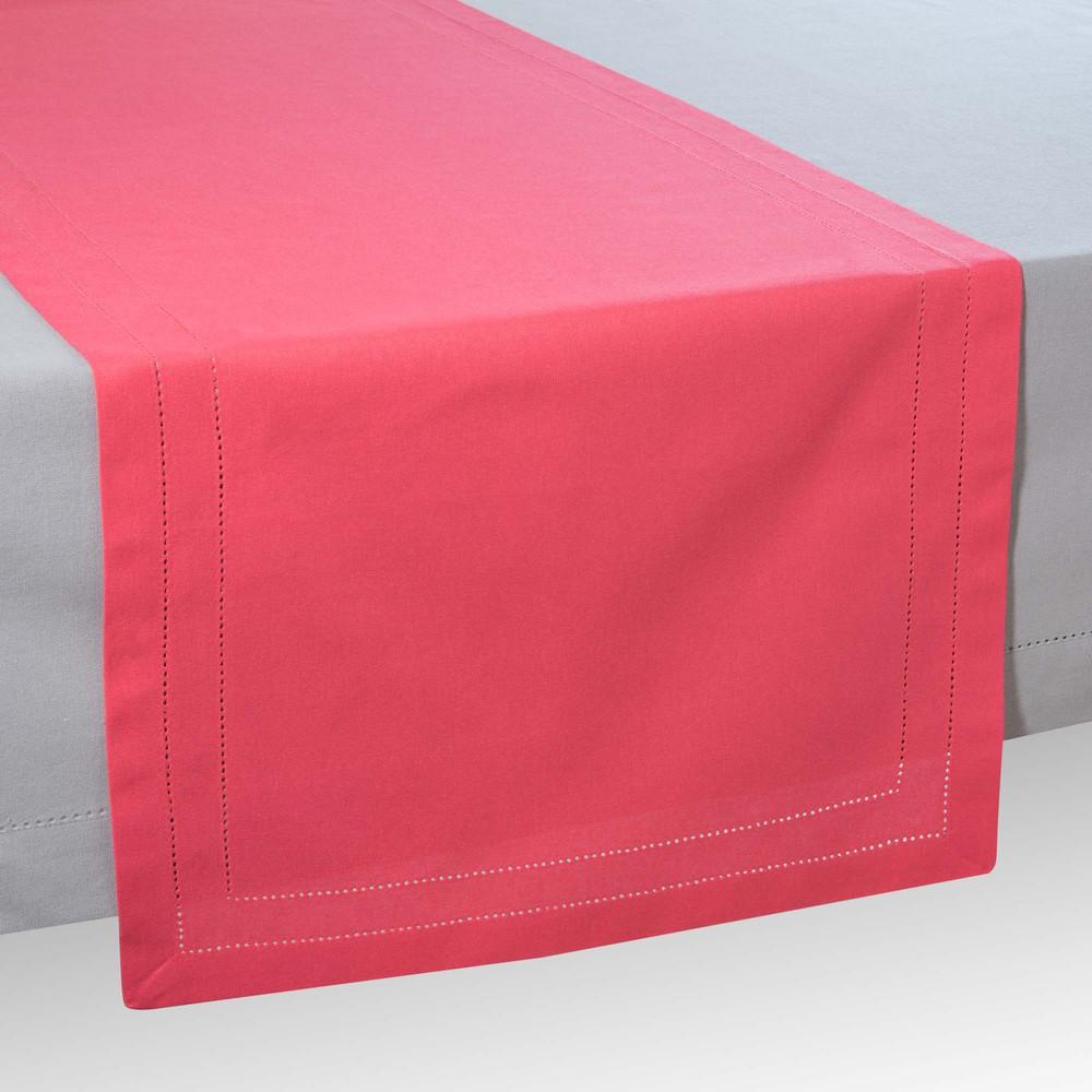 chemin de table en coton rose framboise l 150 cm maisons. Black Bedroom Furniture Sets. Home Design Ideas
