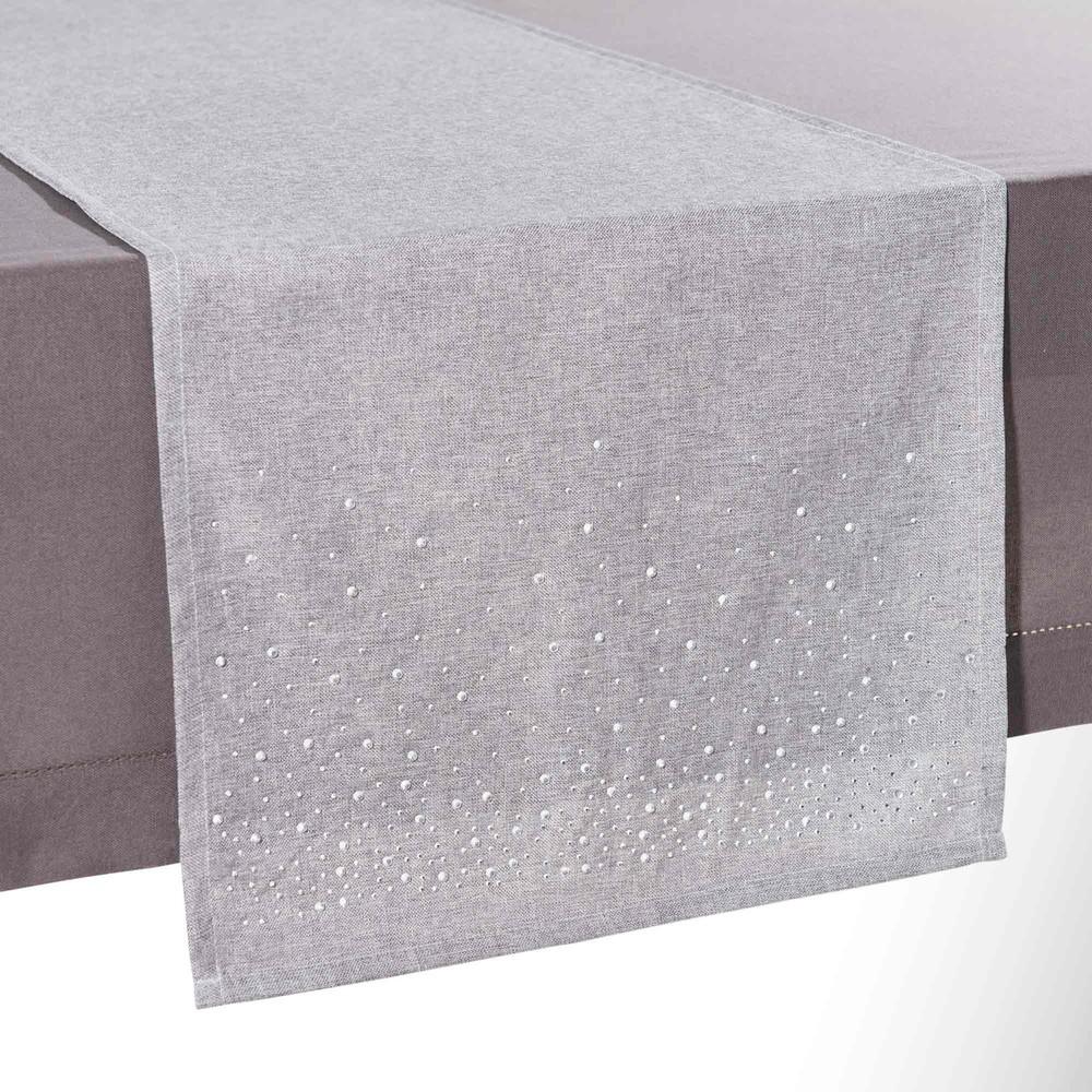 chemin de table gris l 180 cm androm de maisons du monde. Black Bedroom Furniture Sets. Home Design Ideas